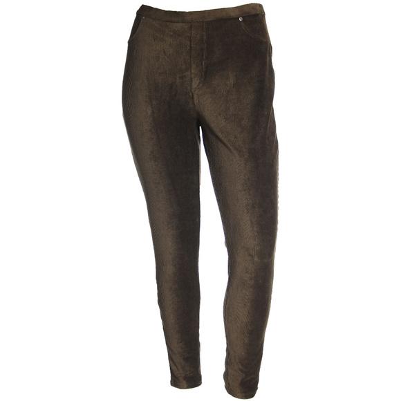 Style & Co Pants - Comfort Waist Mid-Rise Corduroy Leggings Plus Size